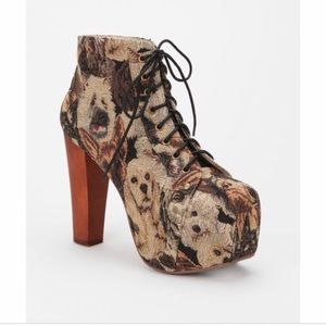 Jeffrey Campbell Dog Tapestry Lita Boot